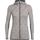Icebreaker Away Showers LS Zip Hood Women pumice/monsoon
